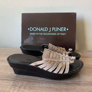 donald j. pliner cissy bronze metallic sandal